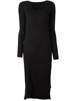 Платье в рубчик Thom Krom. Цвет: чёрный