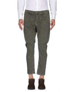 Повседневные брюки QUINTESSENCE. Цвет: зеленый-милитари