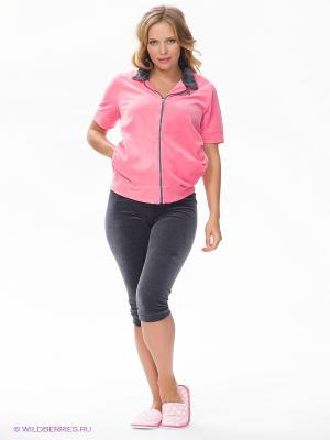 Спортивный костюм Nuova Vita. Цвет: серый, розовый