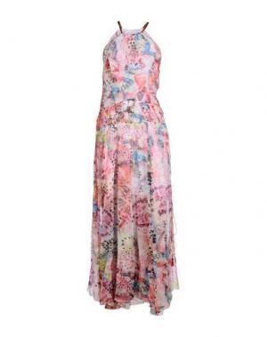 Длинное платье TENAX. Цвет: розовый