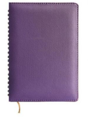 Ежедневник недатированный, кожзам, А5, фиолетовый, Prima, 288л Maestro de Tiempo. Цвет: фиолетовый