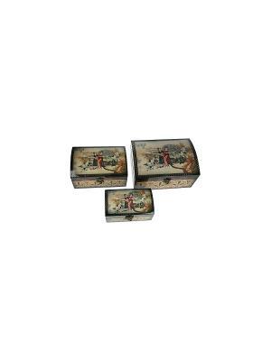 Набор сундучков из 3-х шт. Русские подарки. Цвет: коричневый
