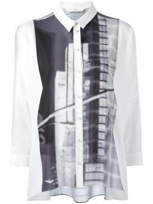 Рубашка с принтом Demoo Parkchoonmoo. Цвет: белый