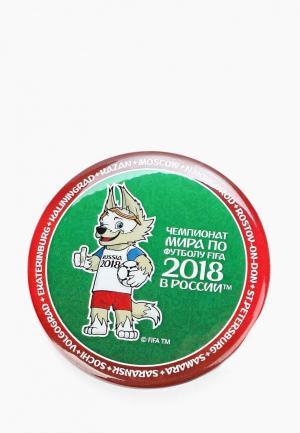 Значок 2018 FIFA World Cup Russia™. Цвет: зеленый