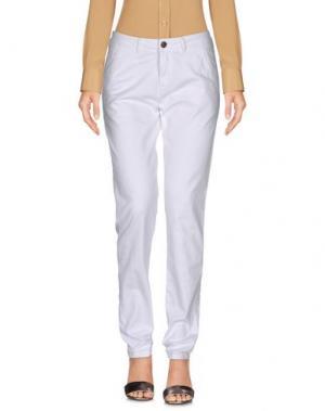 Повседневные брюки REIKO. Цвет: белый