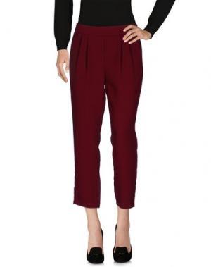 Повседневные брюки TOUPY. Цвет: красно-коричневый