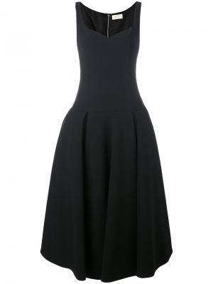 Расклешенное платье миди Sara Battaglia. Цвет: чёрный