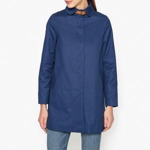 Пальто средней длины с капюшоном GLORIA SESSUN. Цвет: синий
