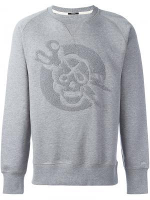 Толстовка Skull Cap Denham. Цвет: серый