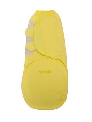 Пеленка на липучках SwaddleFun, Mid yellow - желтый Pecorella. Цвет: желтый