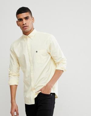 Selected Homme Оксфордская рубашка классического кроя с воротником на пуговицах Selec. Цвет: желтый