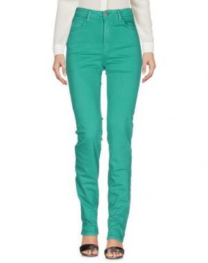 Повседневные брюки CIMARRON. Цвет: изумрудно-зеленый