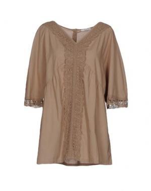 Блузка YES ZEE by ESSENZA. Цвет: хаки