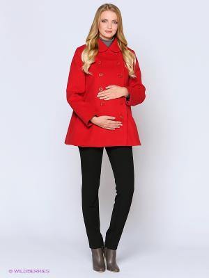 Пальто Trendy Tummy. Цвет: красный