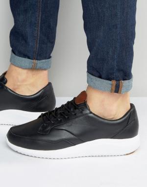 Boxfresh Кожаные кроссовки Rily. Цвет: черный