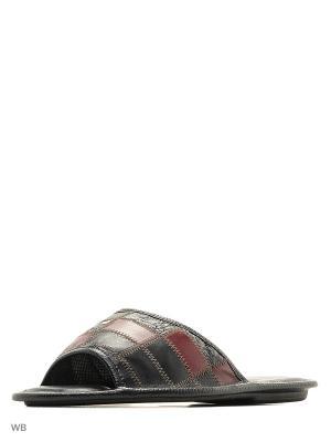 Тапочки Милена. Цвет: бордовый, черный, прозрачный