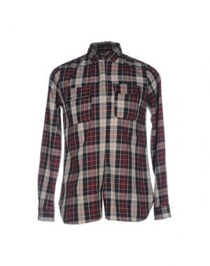 Pубашка 40WEFT. Цвет: баклажанный