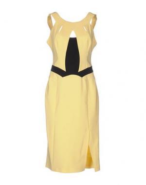Платье до колена H2O ITALIA. Цвет: желтый