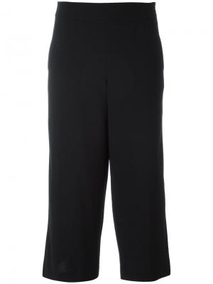 Укороченные широкие брюки Demoo Parkchoonmoo. Цвет: чёрный