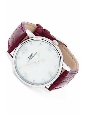Часы на ремне IBSO. Цвет: темно-фиолетовый, серебристый