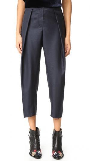 Простые зауженные брюки Maison Kitsune. Цвет: темно-синий