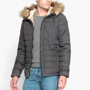 Куртка стеганая с капюшоном SCHOTT. Цвет: антрацит