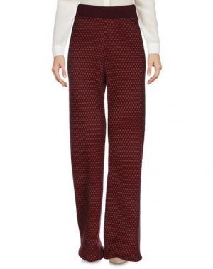 Повседневные брюки SIYU. Цвет: баклажанный