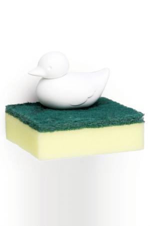 Держатель для губки Duck Qualy. Цвет: белый