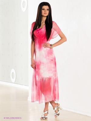 Платье COMPAGNIA ITALIANA. Цвет: розовый, белый