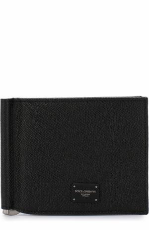 Кожаный зажим для купюр с отделениями кредитных карт Dolce & Gabbana. Цвет: черный
