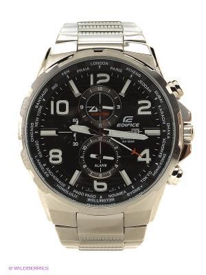 Часы EDIFICE EFR-302D-1A CASIO. Цвет: серебристый