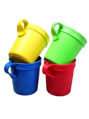 Чашка - 4 шт. Migura. Цвет: синий, желтый, зеленый, красный