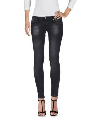 Джинсовые брюки SOUVENIR. Цвет: черный