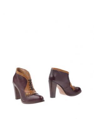 Полусапоги и высокие ботинки SARTORE. Цвет: баклажанный
