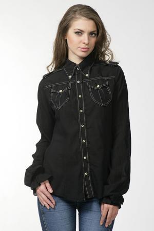 Рубашка Nolita. Цвет: черный