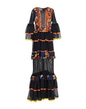 Длинное платье NORA BARTH. Цвет: черный
