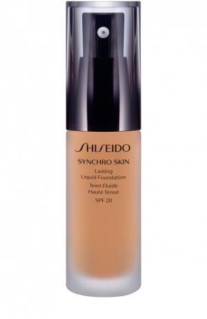 Устойчивое тональное средство Synchro Skin, оттенок Golden 3 Shiseido. Цвет: бесцветный
