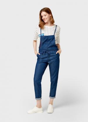 Комбинезон в джинсовом стиле OSTIN. Цвет: синий