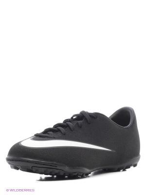Бутсы JR MERCURIAL VICTORY V CR TF Nike. Цвет: черный