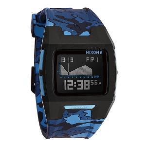 Часы  Lodown Ii Black/Blue Camo Nixon. Цвет: черный,синий,камуфляжный