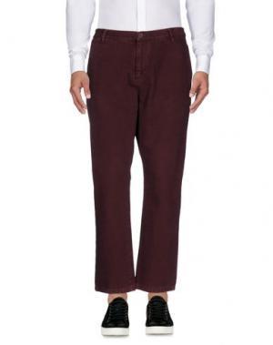 Повседневные брюки DERRIÉRE. Цвет: баклажанный