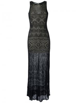 Knit long dress Cecilia Prado. Цвет: чёрный