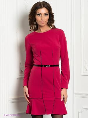 Платье Satin. Цвет: малиновый