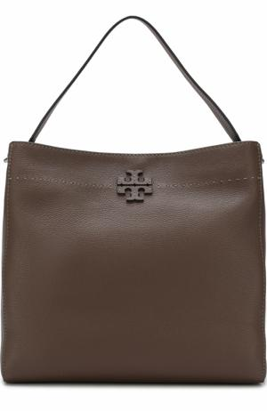 Сумка-тоут McGraw Tory Burch. Цвет: серый