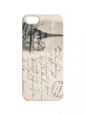 Чехол для iPhone 5/5s Открытка из Франции Арт. IP5-386 Chocopony. Цвет: бежевый