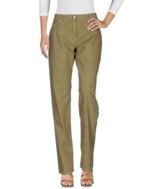Джинсовые брюки CANADIENS. Цвет: зеленый-милитари