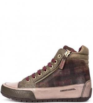 Кожаные кеды на шнуровке и молниях Candice Cooper. Цвет: фиолетовый