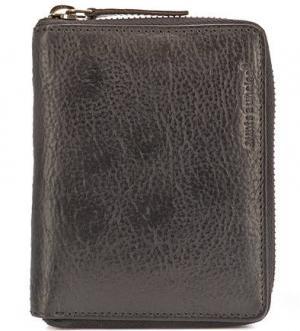 Кожаное портмоне на молнии aunts & uncles. Цвет: черный