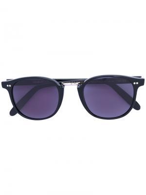 Солнцезащитные очки в круглой оправе Cutler & Gross. Цвет: чёрный