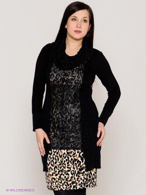 Платье VERDA. Цвет: коричневый, черный